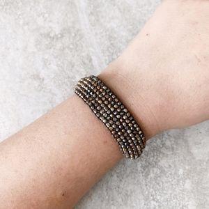 Chan Luu Mixed Metal Cuff Bracelet